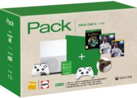 Xbox One S 1 To + 2 manettes + FIFA 18 + Sea of Thieves