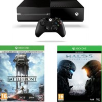 Xbox One 500 Go + Star Wars Battlefront + Halo 5 : Guardians