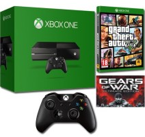 Xbox One + manette supplémentaire + GTA V + Gears of War Ultimate Edition