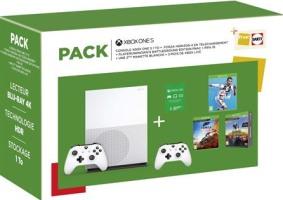 Xbox One S 1 To + 2 manettes + Forza Horizon 4 + FIFA 19 + PUBG