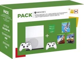 Xbox One S 1 To + 2 manettes + Forza Horizon 4 + FIFA 19 + PUBG + 3 mois de Live