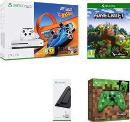 Xbox One S 1 To + 2 manettes + 2 jeux