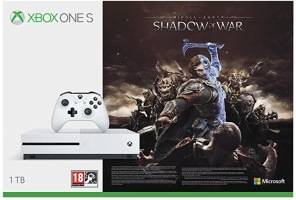 """Xbox One S 1 To pack """"La Terre du Milieu: L'Ombre de la Guerre"""""""