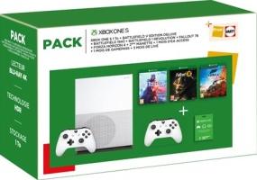 Xbox One S 1 To + 2 manettes + FIFA 19 + Forza Horizon 4 + Gears of War 4 + 12 mois de Xbox Live