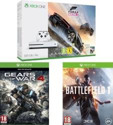 Xbox One S 500 Go + Forza Horizon 3 + Battlefield 1 + Gears of War 4