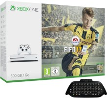 """Xbox One S 500 Go pack """"FIFA 17"""" + chatpad"""