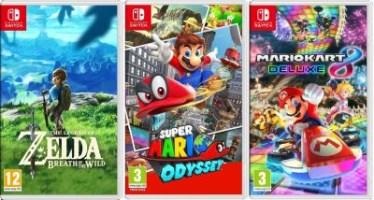 Zelda : Breath of the Wild + Super Mario Odyssey + Mario Kart 8 Deluxe (Switch)